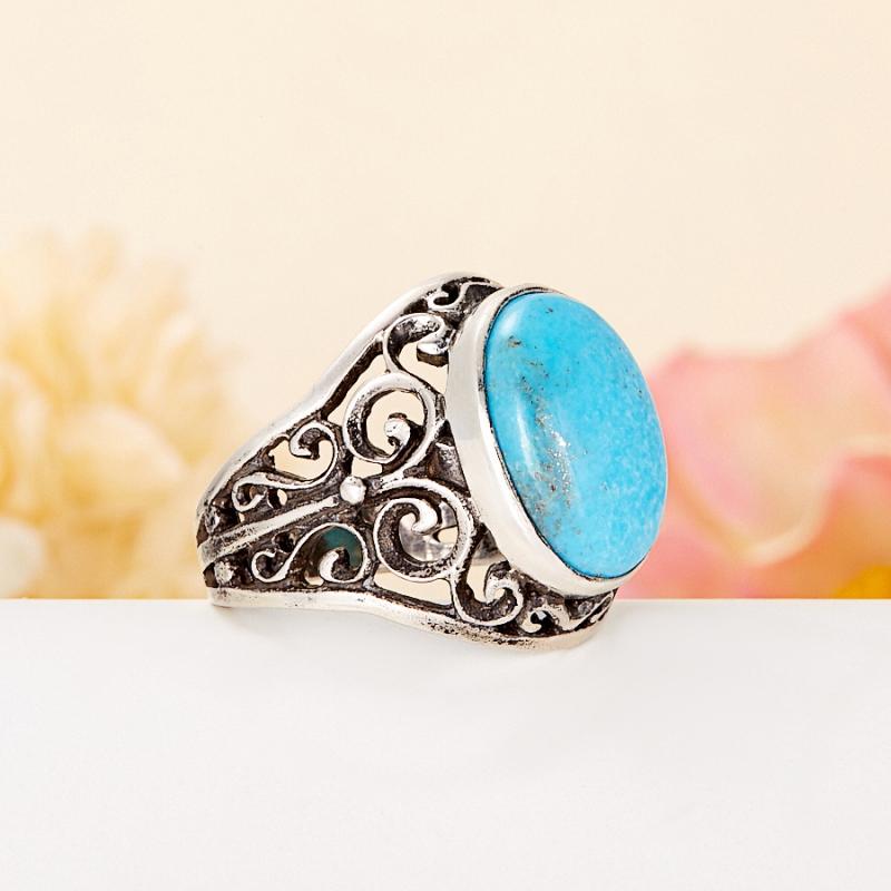 [del] Кольцо бирюза Тибет (серебро 925 пр.) размер 23,5