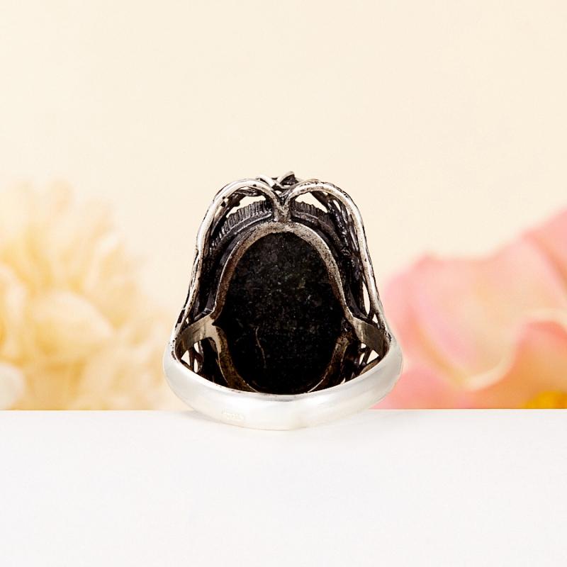 Кольцо бирюза (дублет) Казахстан (серебро 925 пр.) размер 18