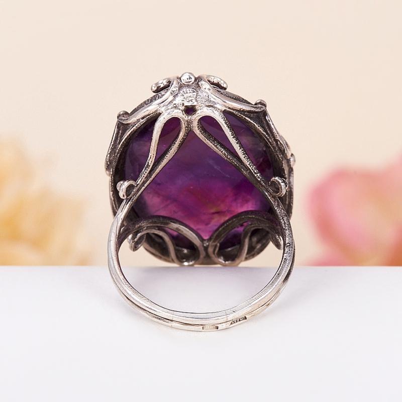 [del] Кольцо аметист Бразилия (серебро 925 пр.) размер 14