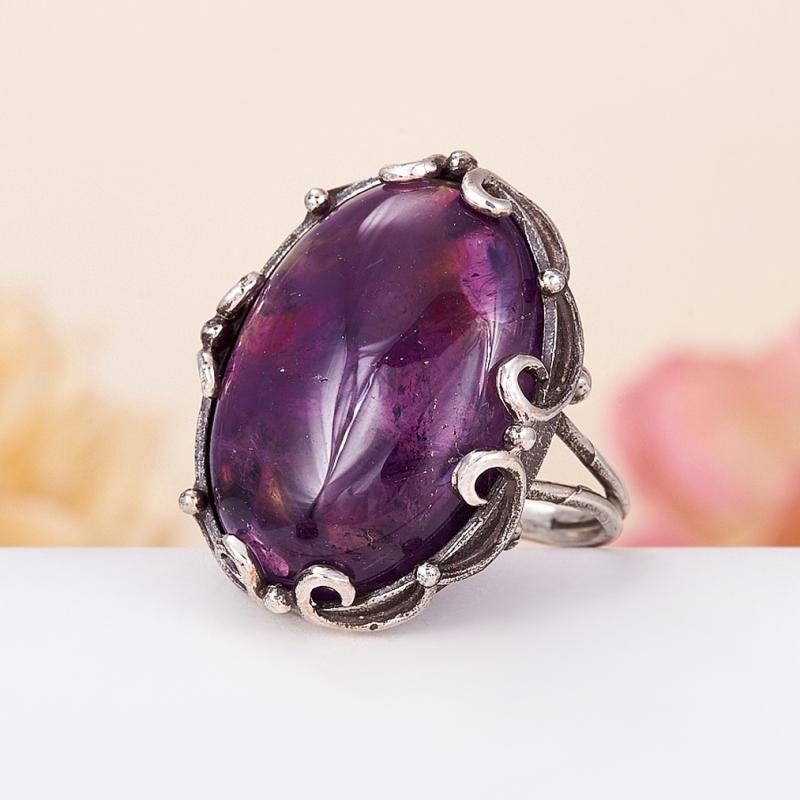 [del] Кольцо аметист Бразилия (серебро 925 пр.) размер 15