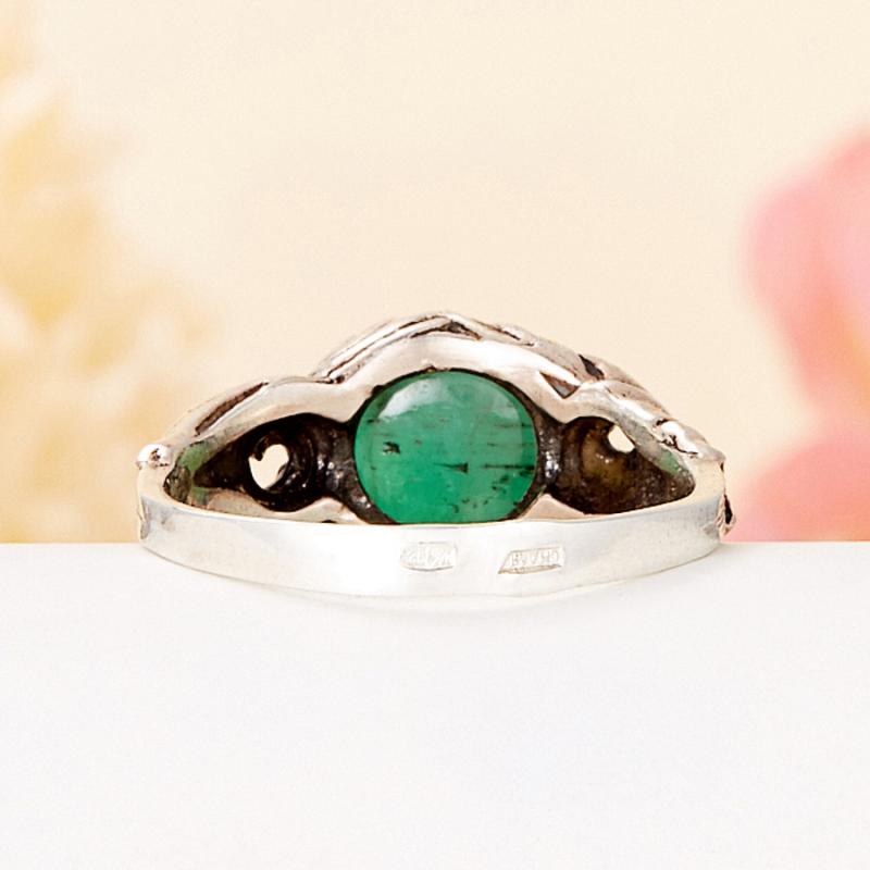 [del] Кольцо берилл Россия (серебро 925 пр.) размер 15,5
