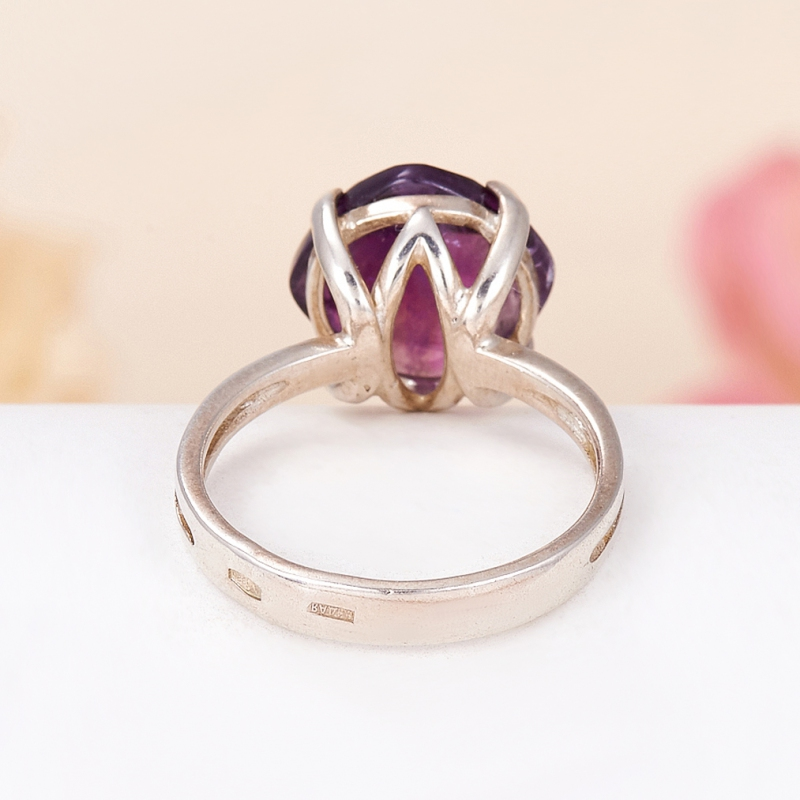 [del] Кольцо аметист Бразилия огранка (серебро 925 пр.) размер 22,5