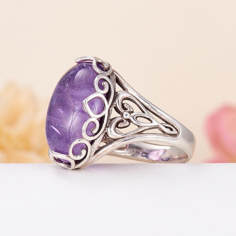 [del] Кольцо аметист Бразилия (серебро 925 пр.) размер 16,5