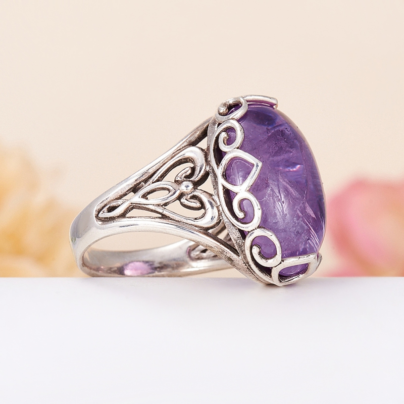 [del] Кольцо аметист Бразилия (серебро 925 пр.) размер 24,5