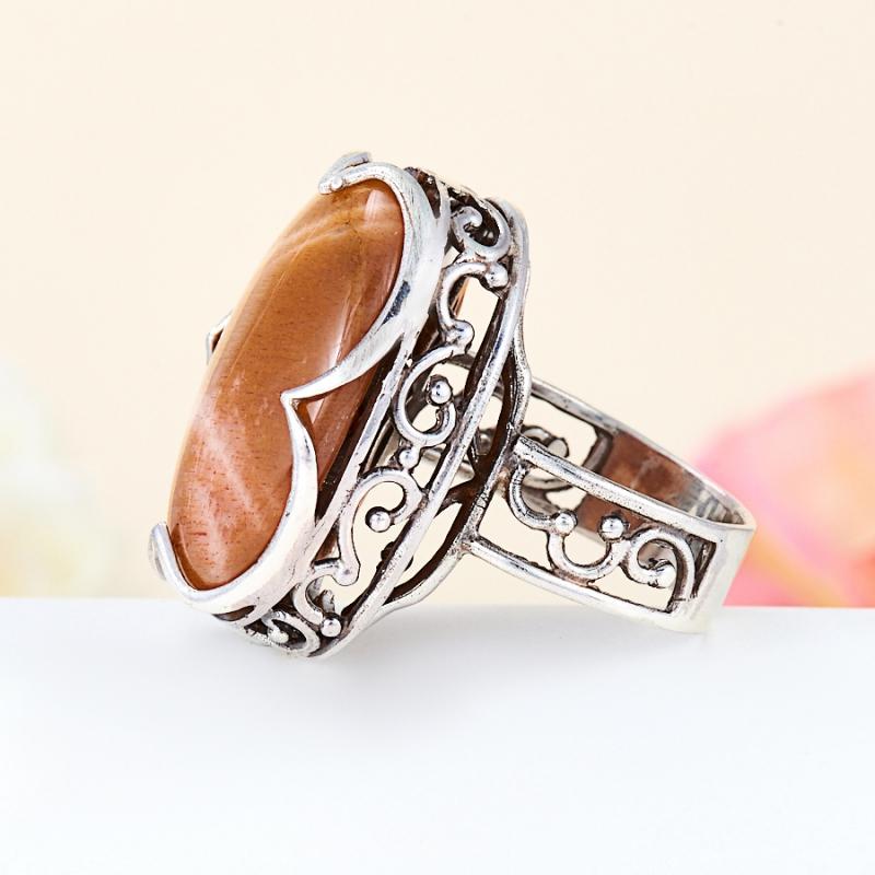 Кольцо солнечный камень Индия (серебро 925 пр.) размер 18,5