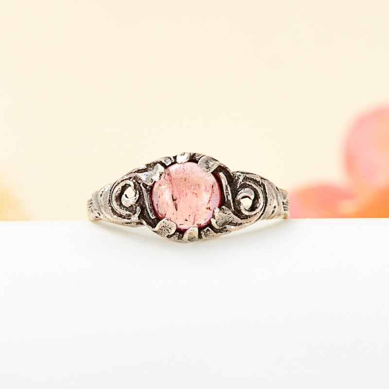 Кольцо турмалин розовый (рубеллит)  (серебро 925 пр.) размер 19