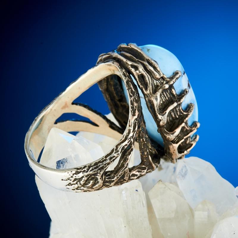 Кольцо бирюза Казахстан (серебро 925 пр.) размер 19