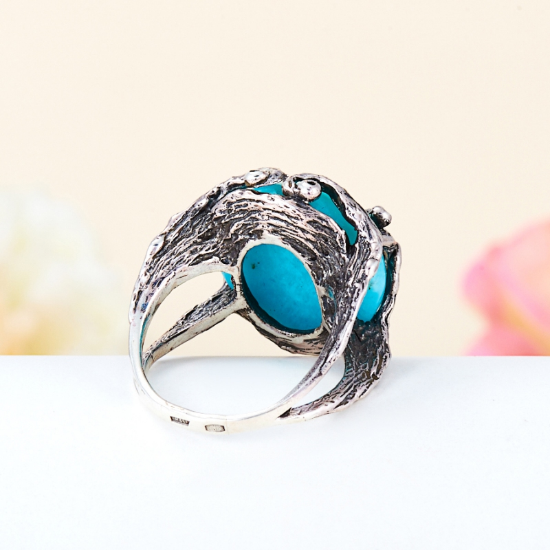 [del] Кольцо амазонит Перу (серебро 925 пр.) размер 18,5