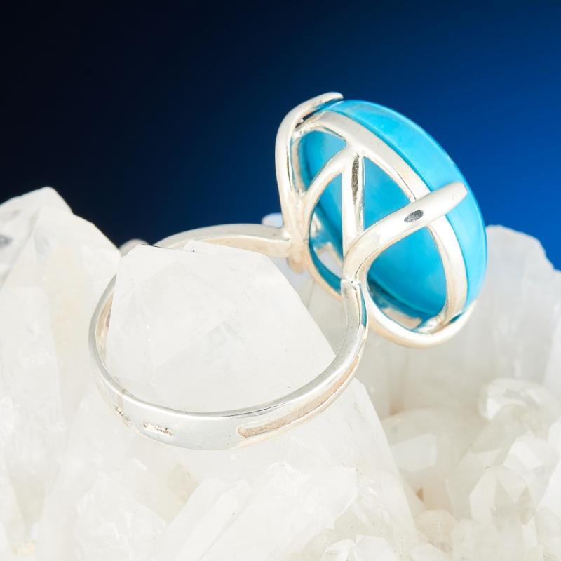 [del] Кольцо бирюза Тибет (серебро 925 пр.) размер 14