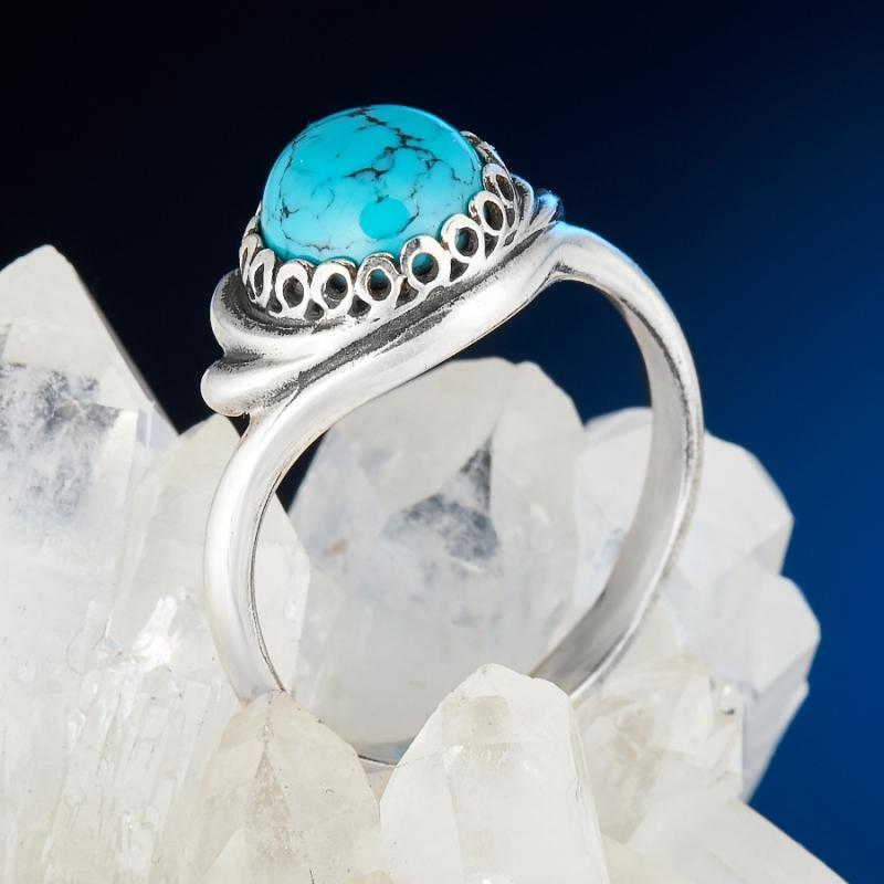 [del] Кольцо бирюза Тибет (серебро 925 пр.) размер 14,5