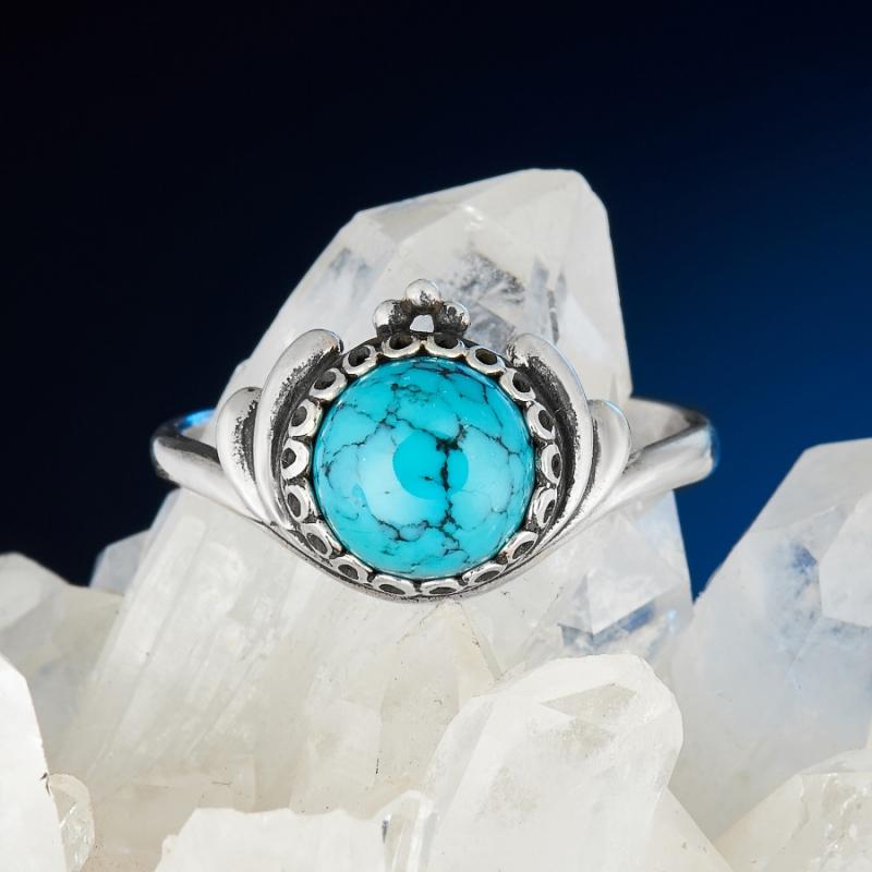 [del] Кольцо бирюза Тибет (серебро 925 пр.) размер 17
