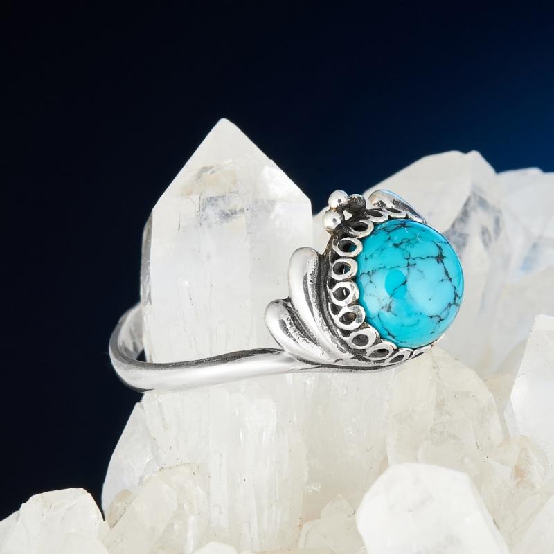 [del] Кольцо бирюза Тибет (серебро 925 пр.) размер 22,5