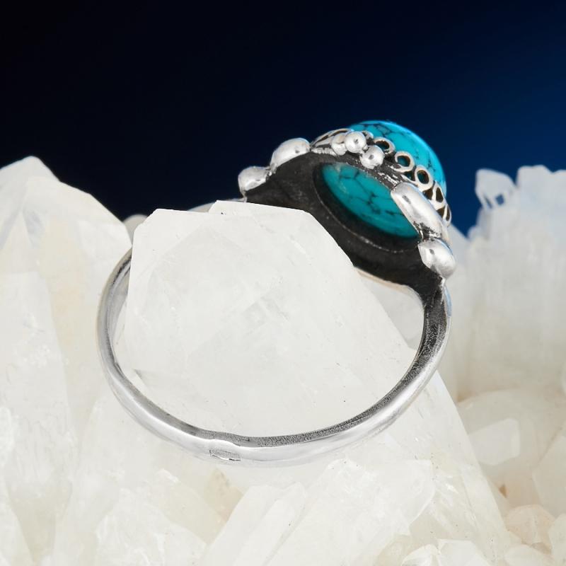 [del] Кольцо бирюза Тибет (серебро 925 пр.) размер 24