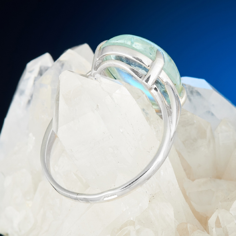 [del] Кольцо аквамарин Россия (серебро 925 пр.) размер 18,5