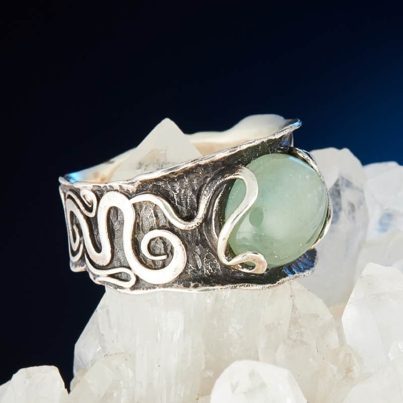 [del] Кольцо аквамарин Россия (серебро 925 пр.) размер 23