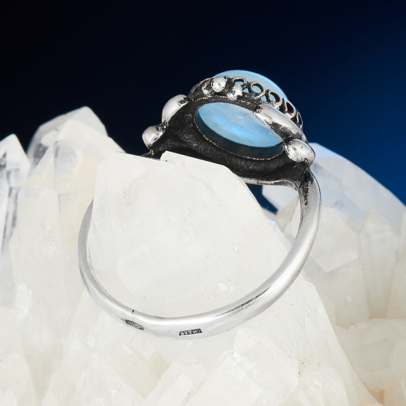 [del] Кольцо аквамарин Россия (серебро 925 пр.) размер 25