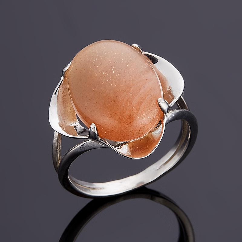 Кольцо солнечный камень  (серебро 925 пр.) размер 18,5