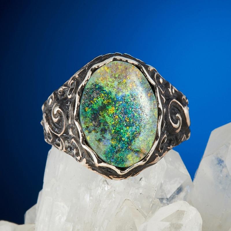Кольцо опал благородный  (серебро 925 пр.) размер 16,5