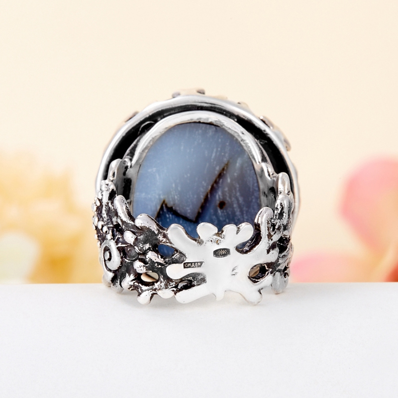 [del] Кольцо агат Бразилия (серебро 925 пр.) размер 15