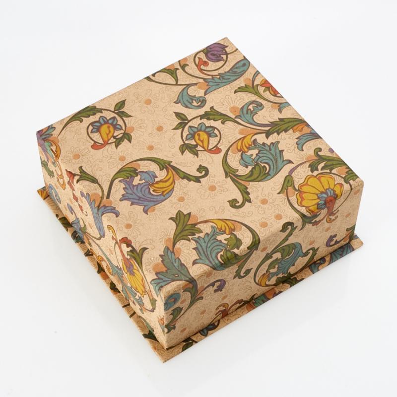 Подарочная упаковка под серьги/кольцо/кулон 90х90х40 мм