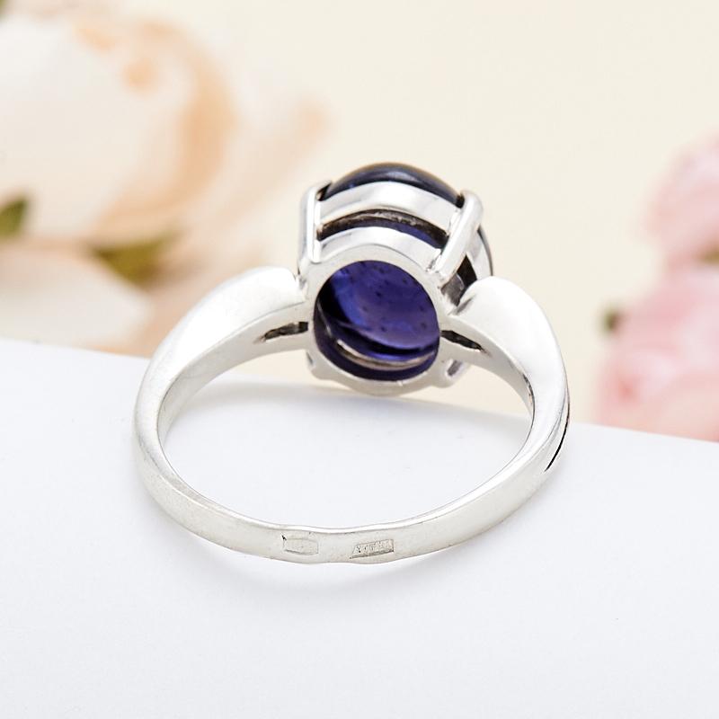 [del] Кольцо иолит Бразилия (серебро 925 пр.) размер 16
