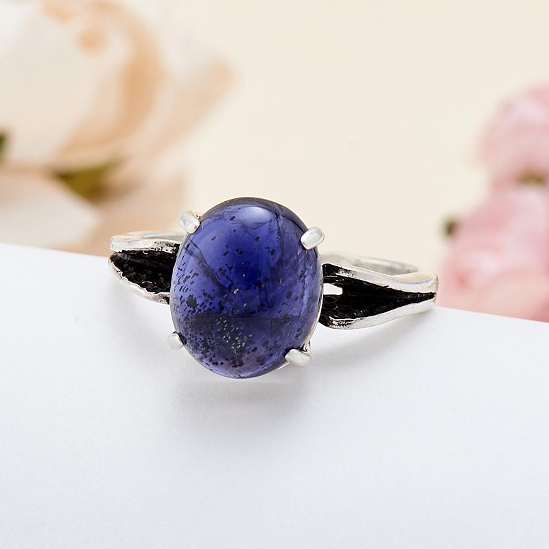 [del] Кольцо иолит Бразилия (серебро 925 пр.) размер 17