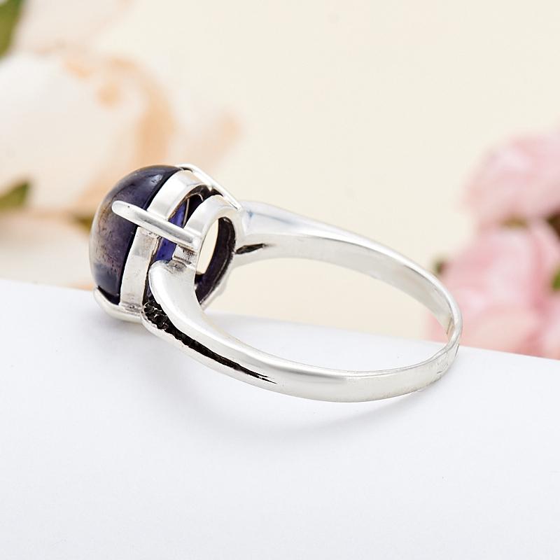 [del] Кольцо иолит Бразилия (серебро 925 пр.) размер 18,5