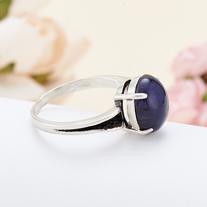 [del] Кольцо иолит Бразилия (серебро 925 пр.) размер 19,5