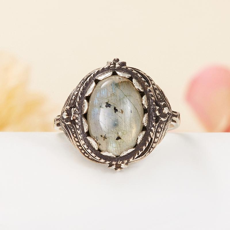 Кольцо лабрадор  (серебро 925 пр.) размер 18,5 кольцо авантюрин зеленый серебро 925 пр размер 18