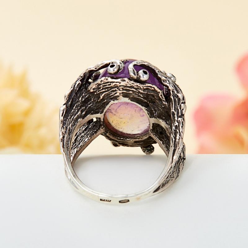 Кольцо аметрин Бразилия (серебро 925 пр.) размер 17
