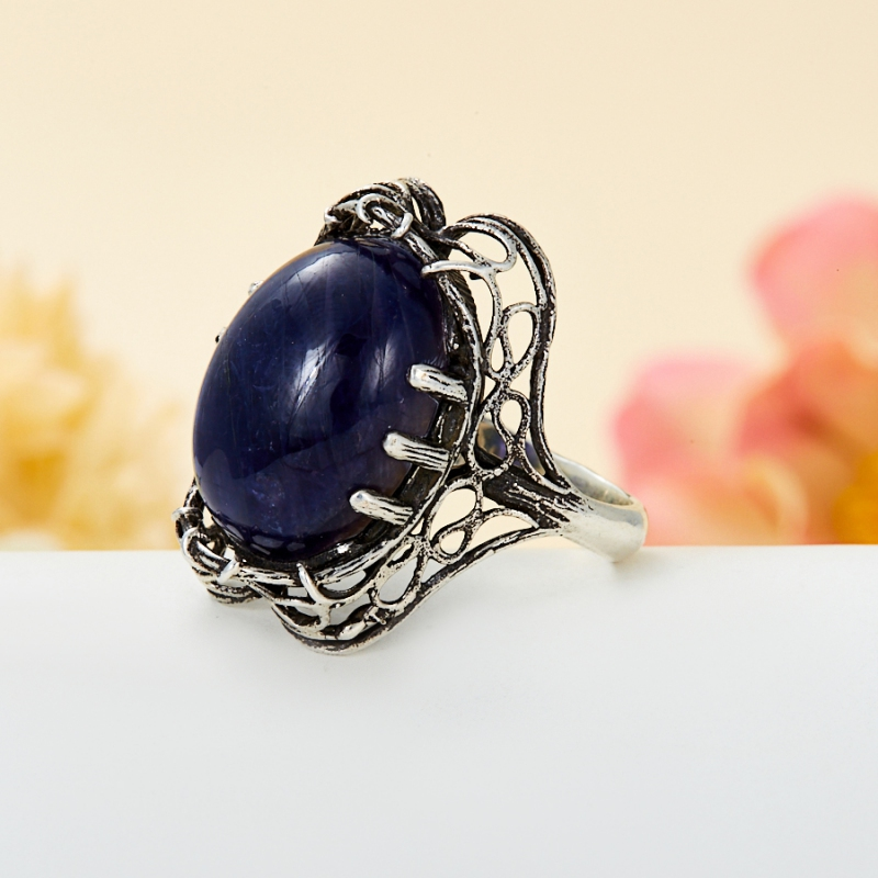 [del] Кольцо иолит (кордиерит) Бразилия (серебро 925 пр.) размер 21