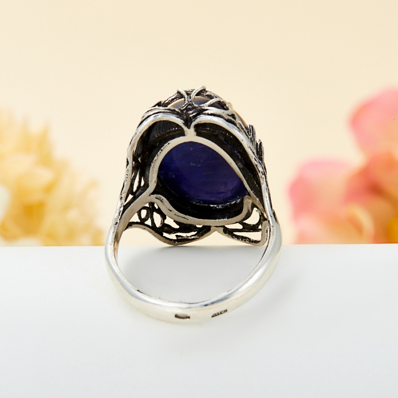 [del] Кольцо иолит (кордиерит) Бразилия (серебро 925 пр.) размер 22