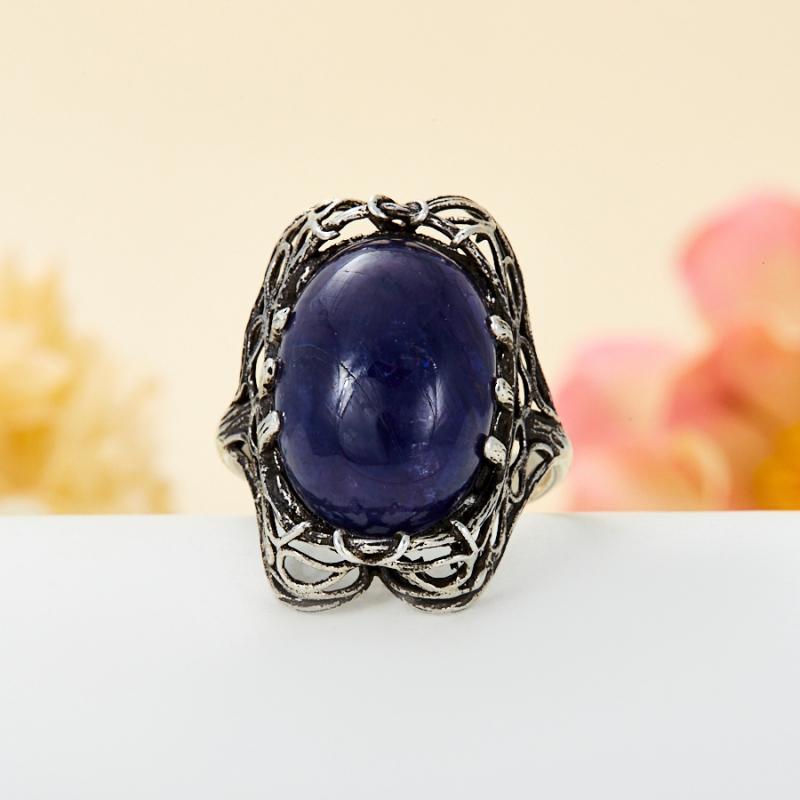 [del] Кольцо иолит (кордиерит) Бразилия (серебро 925 пр.) размер 23,5