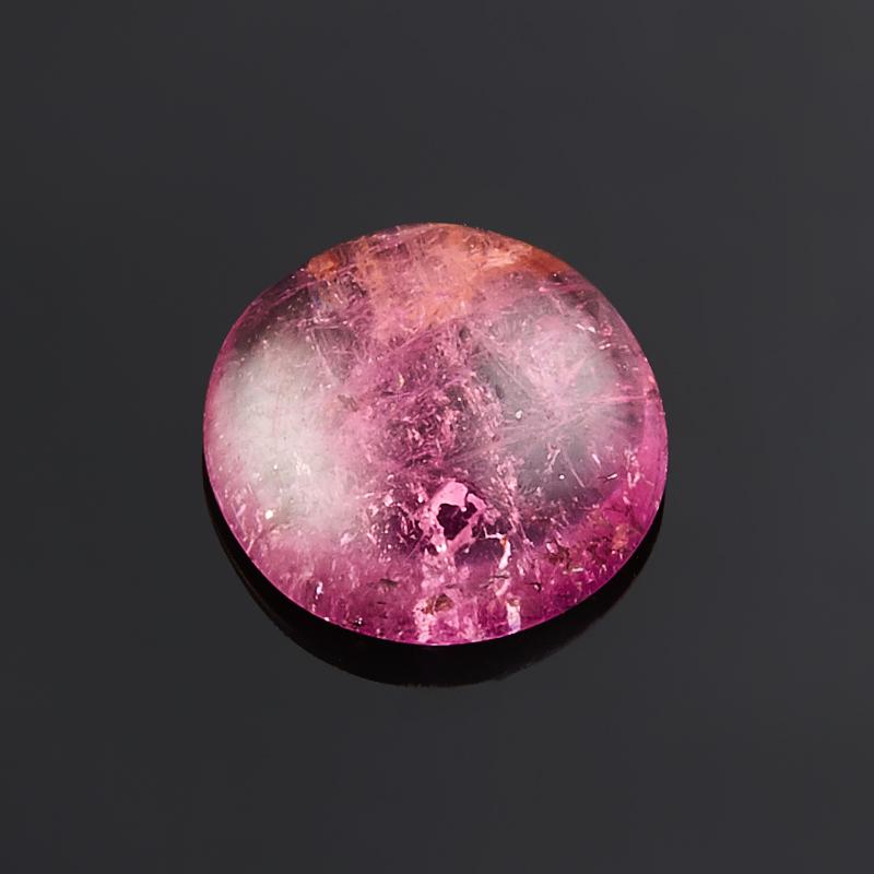 Кабошон турмалин розовый (рубеллит)  9 мм кабошон турмалин зеленый верделит 9 11 мм