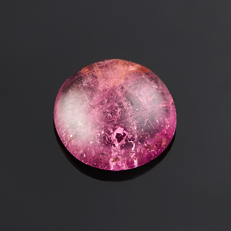 Кабошон турмалин розовый (рубеллит)  9 мм кабошон турмалин розовый 19 34 мм