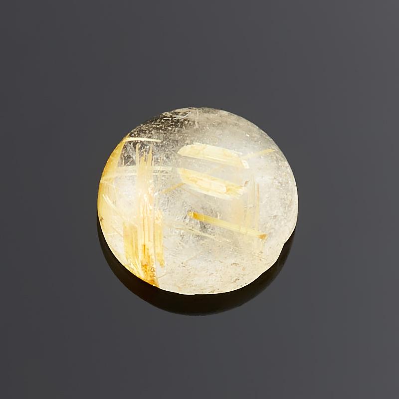 Кабошон рутиловый кварц  9 мм