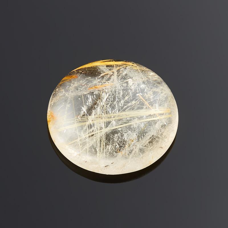 Кабошон рутиловый кварц  14 мм