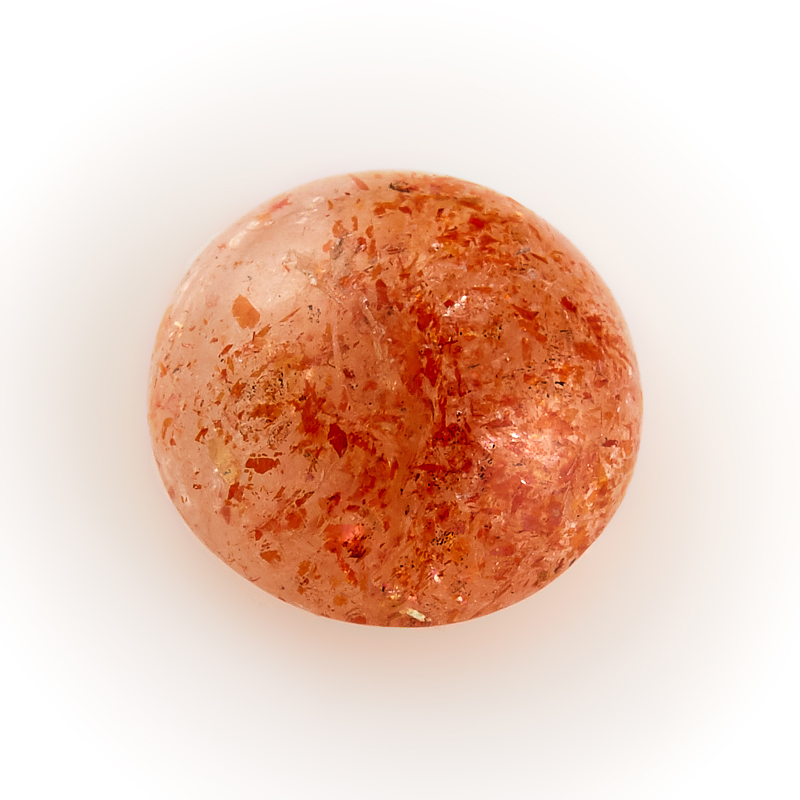 Кабошон солнечный камень  10 мм
