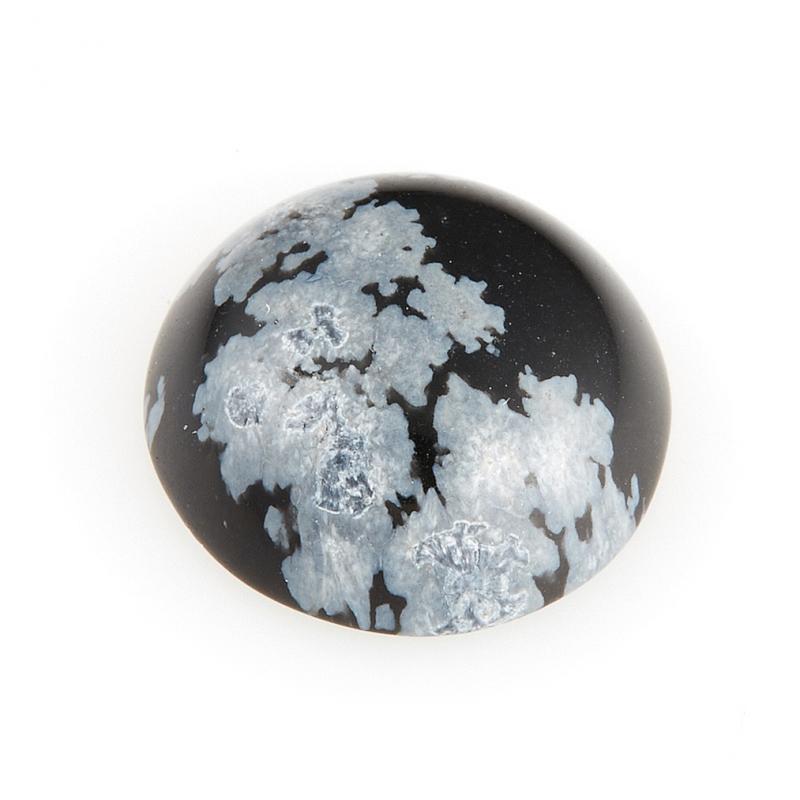 Кабошон обсидиан снежный  12 мм кабошон обсидиан снежный 18 25 мм
