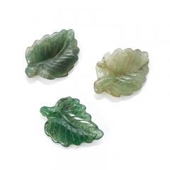 Пуговица лист авантюрин зеленый Зимбабве 2,5-3 см