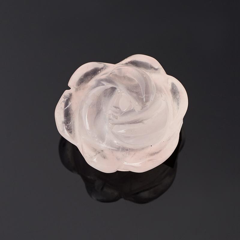 Пуговица роза розовый кварц 1,5 см