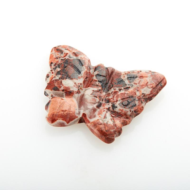 Пуговица бабочка яшма красная ЮАР 2 см