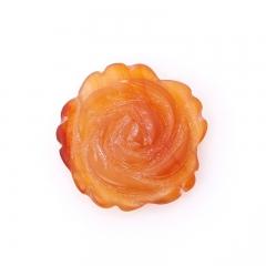 Пуговица цветок сердолик Ботсвана 2,5 см