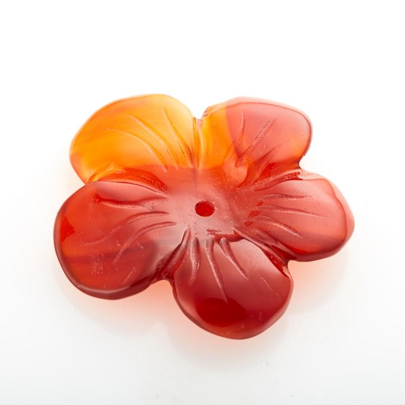 Пуговица цветок сердолик  3 см