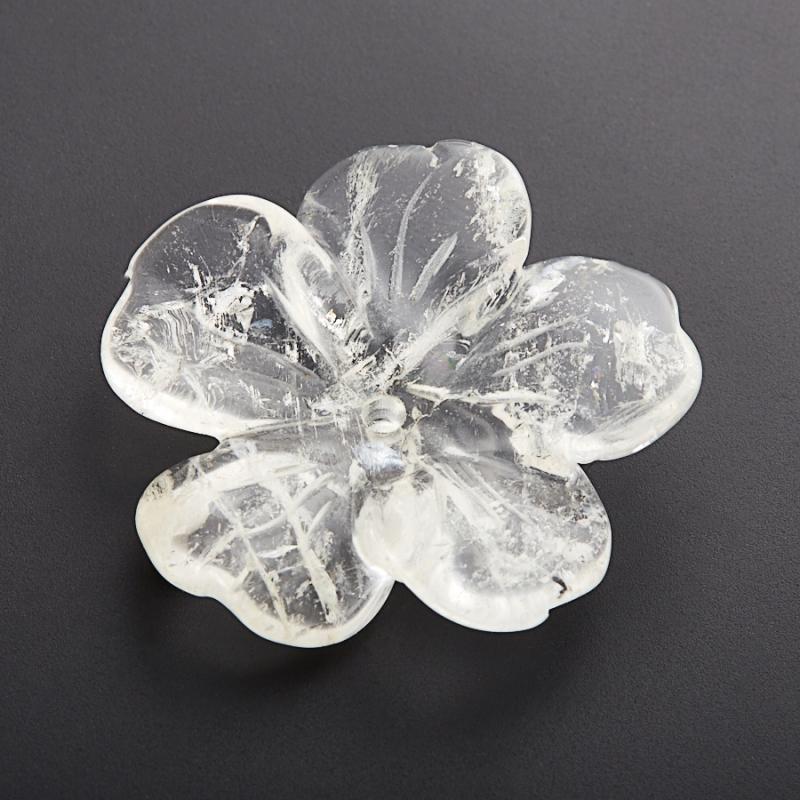 Пуговица цветок горный хрусталь  3 см