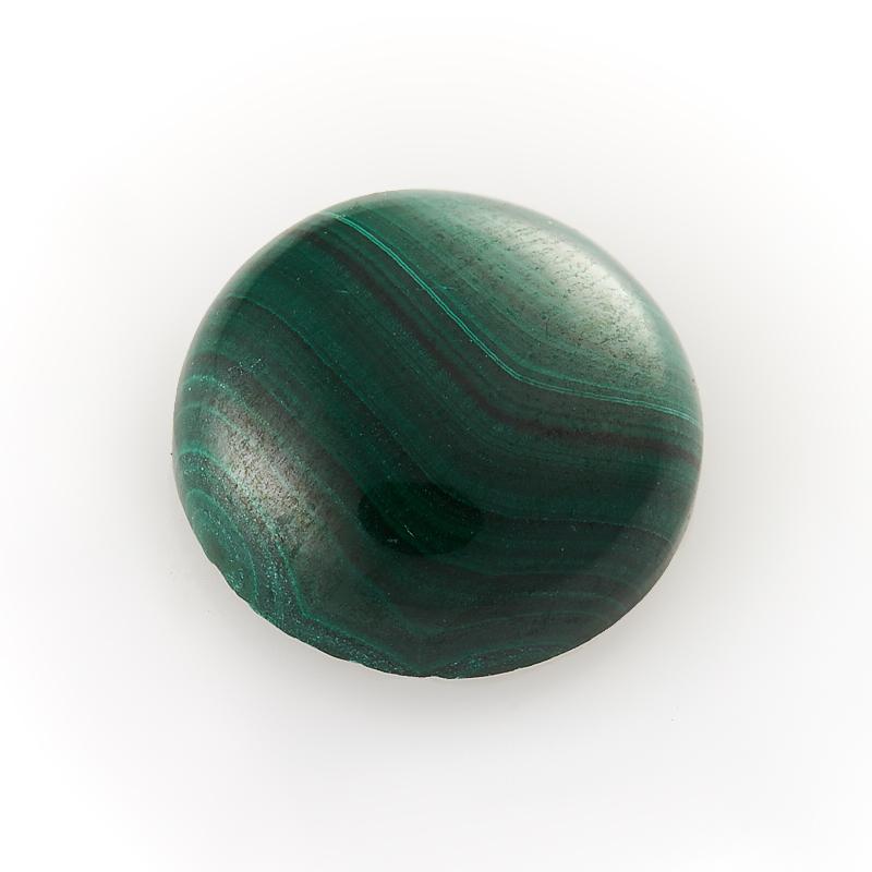 Кабошон малахит  12 мм