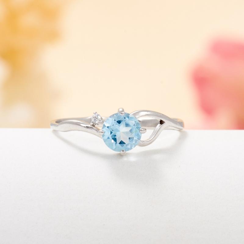 Кольцо топаз голубой огранка (серебро 925 пр.) размер 15,5 кольцо голубой топаз chantal кольцо голубой топаз