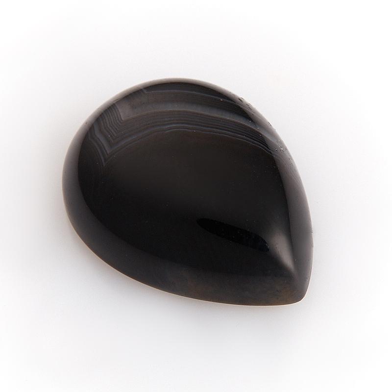 Кабошон агат черный  13*18 мм кабошон фосфосидерит 18 мм