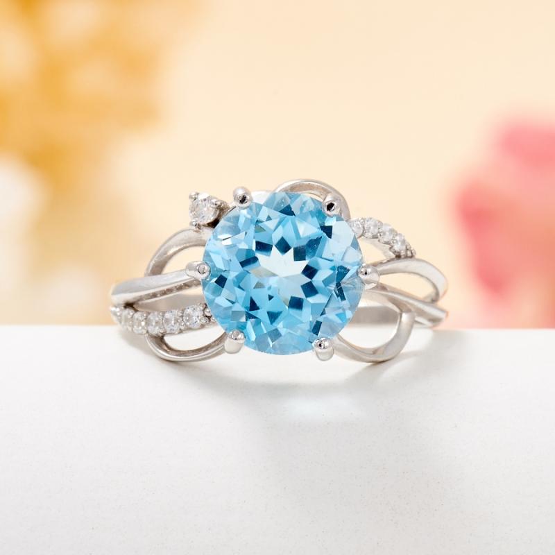 Кольцо топаз голубой огранка (серебро 925 пр.) размер 17 кольцо топаз голубой огранка серебро 925 пр размер 17