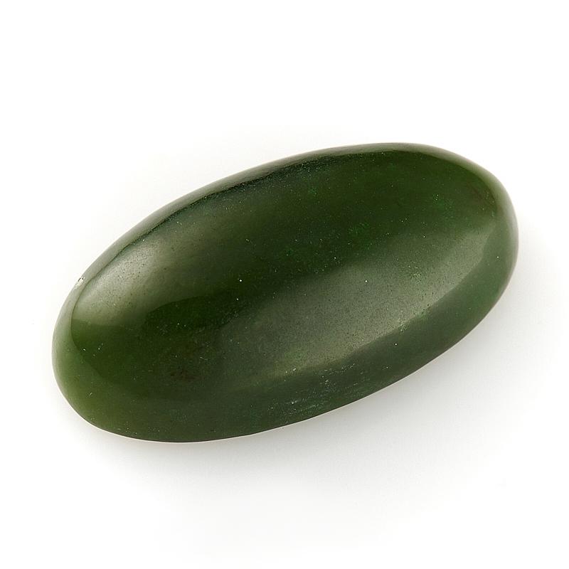 Кабошон нефрит зеленый  12*24 мм